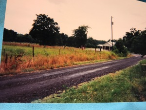 Country road in east Texas