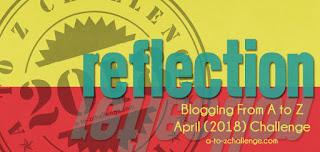 #AtoZChallenge reflections logo 2018